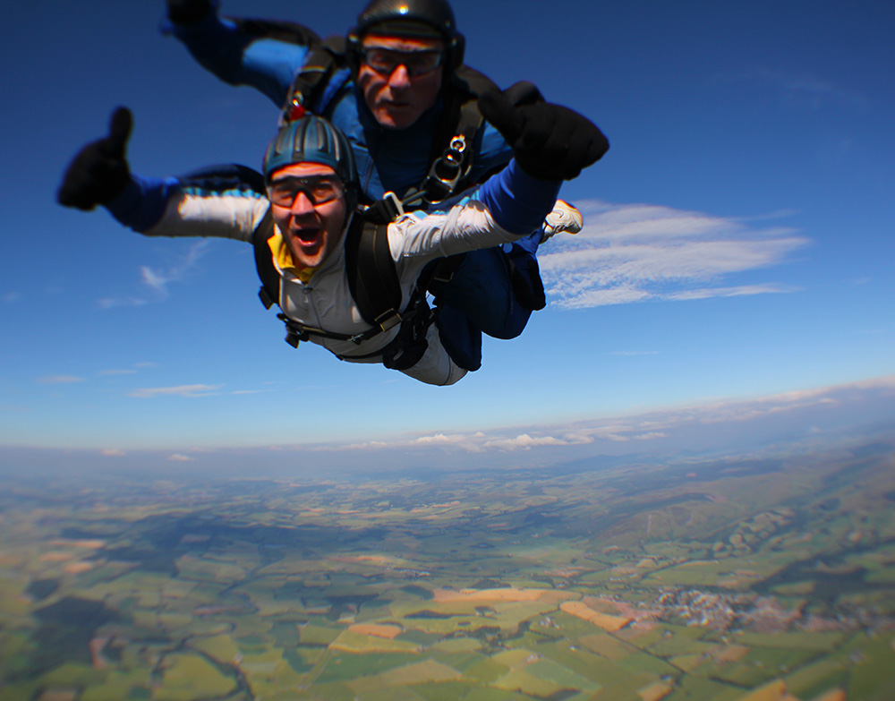 Tandem Skydive over Perthshire